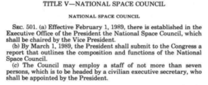 - Space Council law 300x123 - Biden to Keep White House National Space Council – SpacePolicyOnline.com