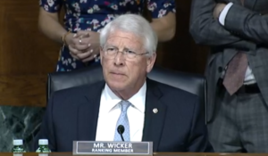 - Wicker markup May 12 2021 300x175 - Senate Commerce Committee Again Approves SPACE Act – SpacePolicyOnline.com